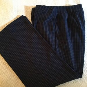 Nine & Company stretch dress pAnts black blue sz16